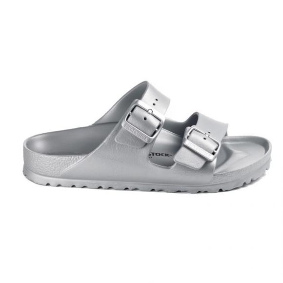 Birkenstock Arizona Eve Metallic Sandal Sz 7 GUC